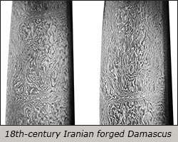 Iranian forged Damascus steel