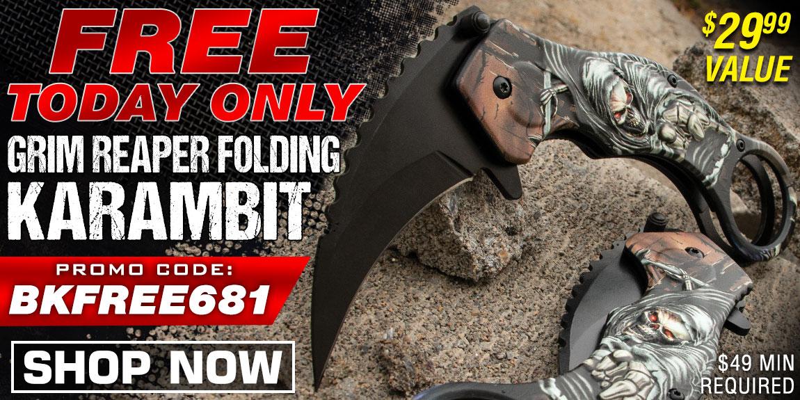 FREE Grim Reaper Folding Karambit