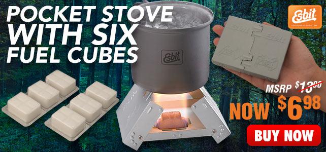Esbit Pocket Stove With Six Fuel Cubes