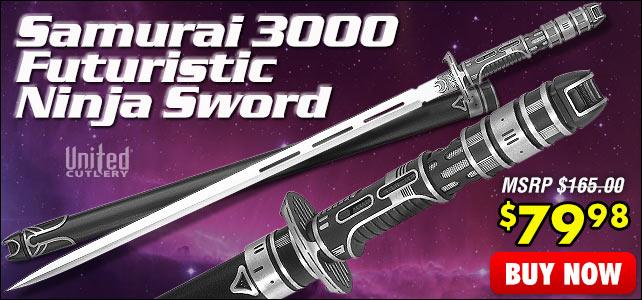 United Cutlery Samurai 3000 Futuristic Ninja Sword