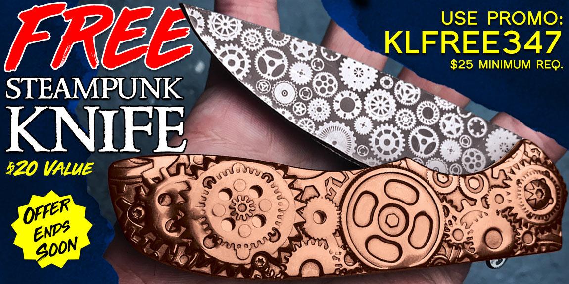 Free Steampunk Knife