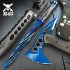 Tsunami Force Limited Edition Set - Includes The Cyclone And The Tactical Tomahawk Axe, 2Cr13 Stainless Steel Blades, Reinforced Nylon Handles