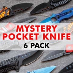 Mystery Bag Deal - Set Of Brand New Pocket Knives, Variety Of Styles, Guaranteed Value - Six Pack
