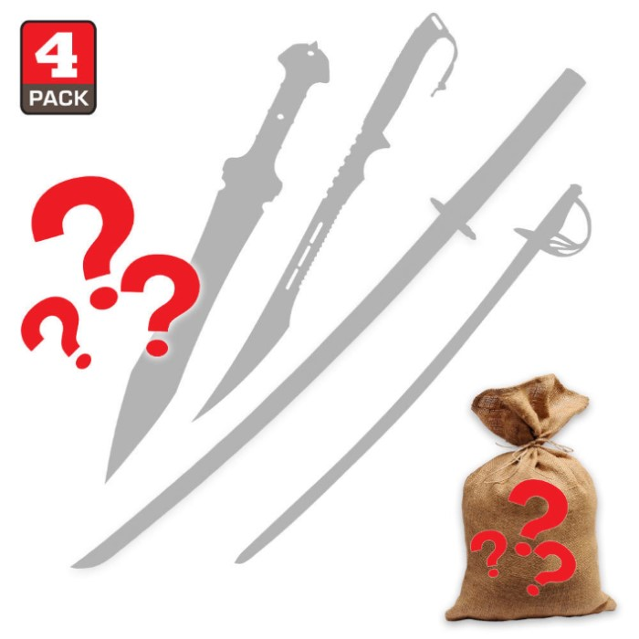 home decorators collection scratch and dent sale swords scratch amp dent mystery bag four pieces budk 13643
