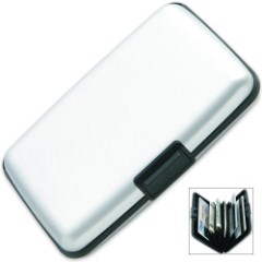 RFID Security Aluminum Wallet Silver