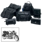 Genuine Buffalo Leather Motorcycle Saddlebags - 7 Pieces