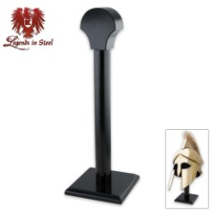 Black Wood Middle Ages Helmet Stand