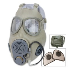 Military Surplus Czech M10M Gas Mask With Straw
