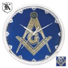 Blue Masonic Wall Clock