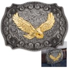 Antique Finish Golden Eagle Belt Buckle