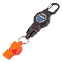 Boomerang Retractable Tether With Safety Whistle