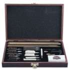 Gunmaster 35-Piece Gun Cleaning Kit in Wooden Presentation Case