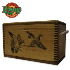 Wooden Accessory Box With Rope Handles – Duck