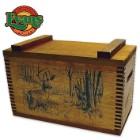Wooden Standard Ammo Box – Deer