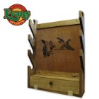Wooden 4-Gun Rack With Storage Area - Duck