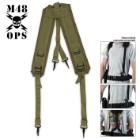 M48 Ops G.I. Style Suspenders OD Green