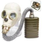 Polish MP3 Gas Mask With Hose, Filter And Transport Bag – Like New, Authentic Military Surplus, Protective Eye Lenses