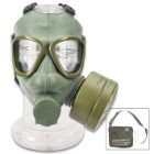 Serbian M1 Gas Mask - Authentic Military Issue - Includes Original Accessories, Instruction Manual, Carrier / Bag - Like New Condition