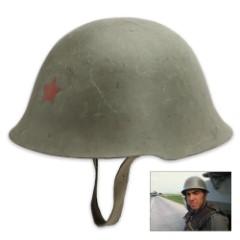 Serbian OD Steel Helmet, Used