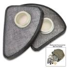 Polish MP4 Gas Mask Filters - Like New, Cheek Filters, Authentic Military Issue, Set of Two