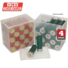 25 Round Shell Stack Shotshell Storage Boxes – 4 Pack