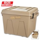 MTM Extra Tall Ammo Crate/Utility Box - Polypropylene Construction, Side Handles, Carries Up To 100 LBS, Water-Resistant O-Ring Seal