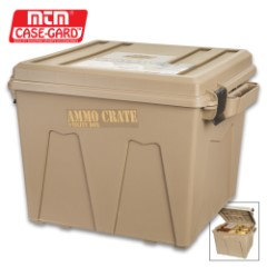 MTM Extra Tall Ammo Crate/Utility Box – Polypropylene Construction, Side Handles, Carries Up To 100 LBS, Water-Resistant O-Ring Seal