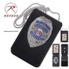 Rothco Universal Leather Badge And ID Holder