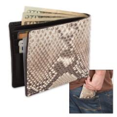 Genuine Python Snake Skin Two-Fold Wallet