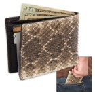 Genuine Rattlesnake Skin Two-Fold Wallet