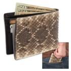 Genuine Rattlesnake Skin Two-Fold Wallet