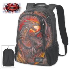 Dragon Furnace Backpack With Laptop Pocket