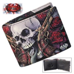 Lord Have Mercy Bifold Wallet With RFID Blocking – Faux Leather, Vivid Original Artwork, Eight Card Slots, Gift Box Included