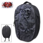 Death Re-Ripped Backpack With Laptop Pocket - 3D Latex And Oxford Cloth Construction, Padded Shoulder Straps And Handle
