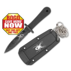 Black Widow Self Defense Tactical Neck or Boot Knife 2 for 1
