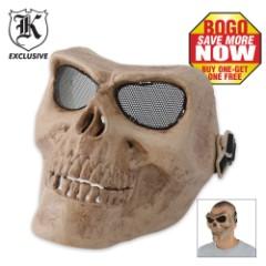 Airsoft Military Skull Facemask Bone Color BOGO
