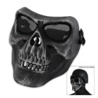Airsoft Military Skull Facemask - Black