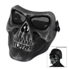 Airsoft Military Skull Facemask Black