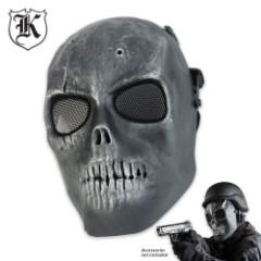 ABS Skeletal Soldier Facemask Silver & Black