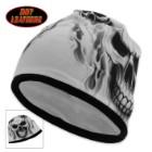 Ghost Skull Beanie Black