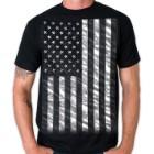 Jumbo Black and White Flag T-Shirt