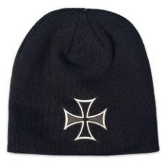 Historic Iron Cross Knit Beanie Hat