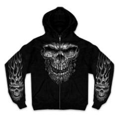 Shredder Skull Zipper Hoodie