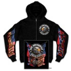 Second Amendment Homeland Security Zipper Hoodie