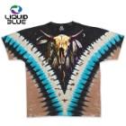 Native American Bison Skull Tie-Dye T-Shirt