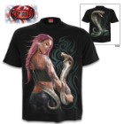 Serpent Tattoo Black T-Shirt – Top Quality 100 Percent Cotton, Original Artwork, Azo-Free Reactive Dyes