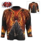 Flaming Death Wrap – Allover Long-Sleeve T-Shirt