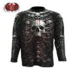 Death Ribs Black Long-Sleeve - Allover T-Shirt