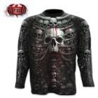 Death Ribs Black Long-Sleeve - Allover T-Shirt