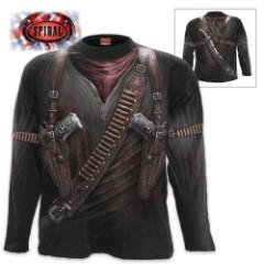 Black Holster Wrap - Allover Long-Sleeve T-Shirt